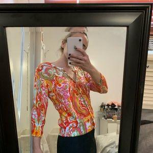 Evie multi print cardigan